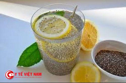 Nước chanh và hạt chia giúp giảm cân an toàn