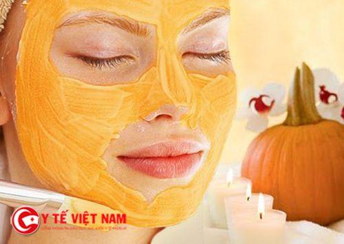 Bí ngô giúp làm da mặt căng mịn hiệu quả
