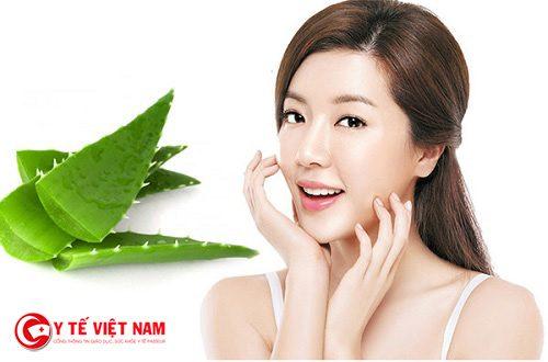 Nha đam với vitamin E giúp làn da căng mịn hồng hào