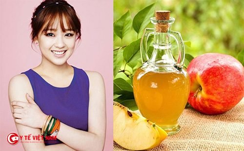 Giấm táo giúp dưỡng da căng mịn