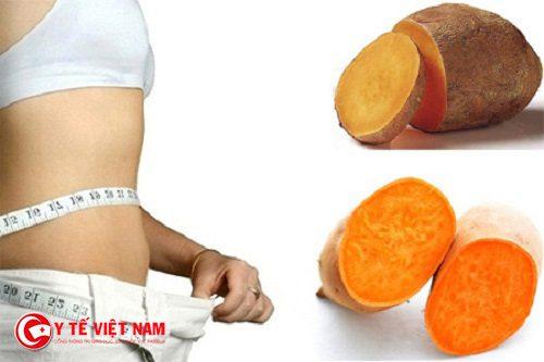 Khoai lang giúp giảm cân an toàn và có được vóc dáng thon gọn