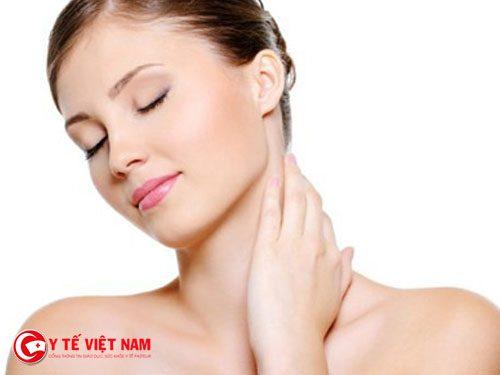 Làn da căng mịn trắng sáng tự nhiên nhờ sử dụng viên nha đam
