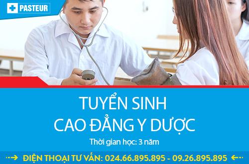 Trường Cao đẳng Y Dược Pasteur tuyển sinh Cao đẳng Y Dược chỉ cần tốt nghiệp THPT