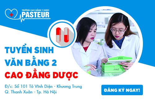 Trường Cao đẳng Y Dược Pasteur tuyển sinh Văn bằng 2 Cao đẳng Y Dược trên cả nước