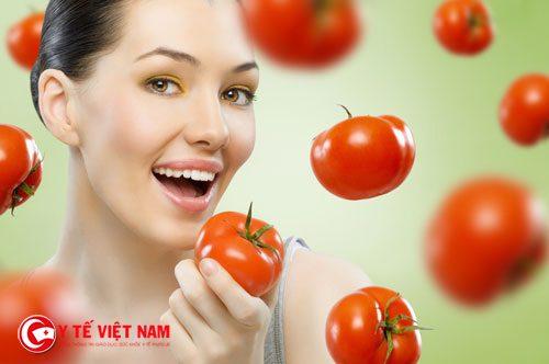 Cà chua giúp làm da mặt căng mịn