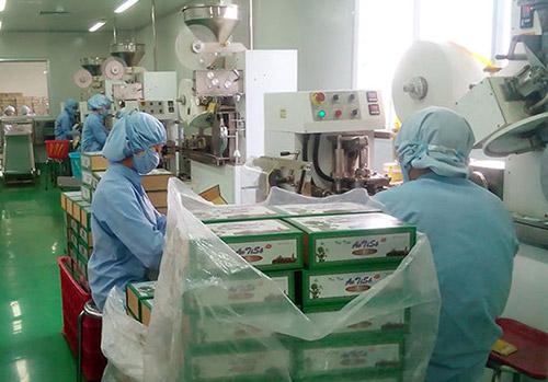 Các Kỹ thuật viên Dược học Công ty CP Dược Lâm Đồng Ladophar đang hăng say làm việc