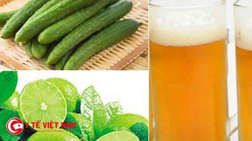 Bia với dưa leo có khả năng ngăn ngừa lão hóa da hiệu quả