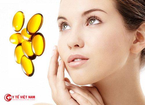 Sử dụng vitamin E đúng cách giúp cho làn da trắng hồng mịn màng