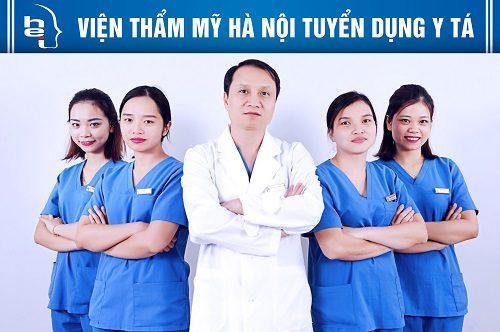 Đội ngũ bác sỹ y tá có trình độ chuyên môn kinh nghiệm cao mang lại vẻ đẹp hoàn hào cho khách hàng