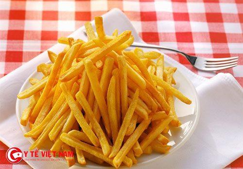 Để giảm cân hiệu quả không nên sử dụng khoai tây chiên