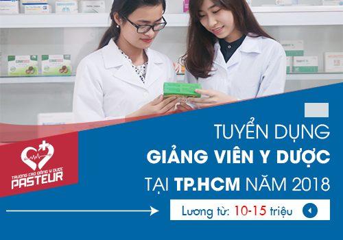Tuyển dụng Giảng viên Y Dược năm 2018 tại TP.HCM