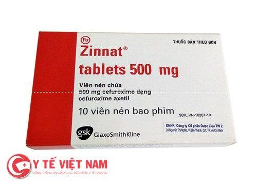 thuốc Zinat 500 mg giả