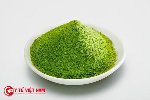 Bột trà xanh chống lão hóa da hiệu quả