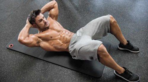 Động tác gập bụng dưới sàn