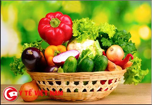 Bổ sung rau quả tươi trong chế độ ăn nhằm ngăn ngừa ung thư
