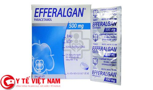 Sử dụng thuốc giảm đau hạ sốt Efferalgan 500mg như thế nào cho đúng?
