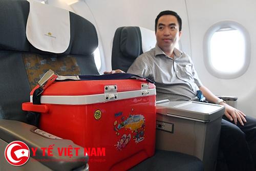 Quốc gia đầu tiên vận chuyển tạng bằng đường hàng không dân dụng