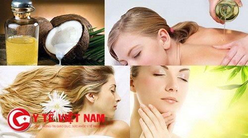Dầu dừa được xem là dược liệu quý cho làn da và mái tóc của chị em