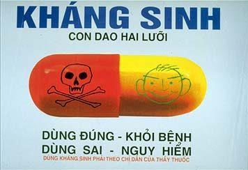 Sử dụng kháng sinh là con dao hai lưỡi