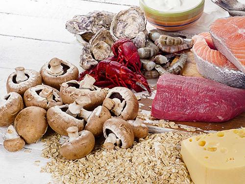 Bổ sung các loại thực phẩm chứa Vitamin B12